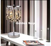 D35cm H120cm K9 Crystal Modern Silver Color Crystal Table Lamp Luxury Lustres De Cristal Table Lamp Floor Lamp Bedside Lighting