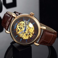 TIME100 - Mechanical Skeleton Watch - Hollow Out Self-wind 2
