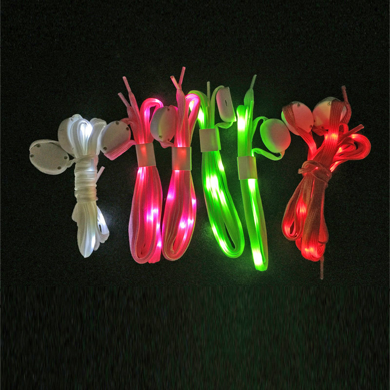 2018 Limited Costume Leds Fashion Light Led Event Shoelaces Flash Party Glowing Shoe Laces For Boys Girls Self Luminous Strings