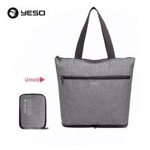 Foldable Vintage Handbag Tote Bag Unisex European Style Oxford Travel Shopping Beach Bag Casual Shoulder Bags Waterproof YESO