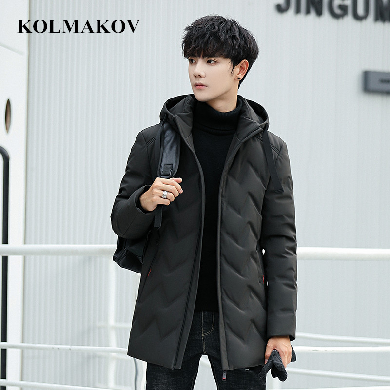 New Men's Duck   Down     Coats   2018 Winter Mens 85% White Duck   Down   Jackets Men Top Quality Thick Youth Overcoats Masculino L-4XL