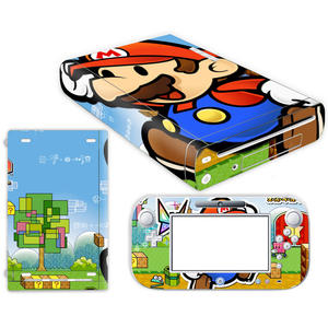 Image 3 - Super Mario Skin Sticker for Nintendo Wii U Console Cover with Remotes Controller Skins For Nintend wii u sticker