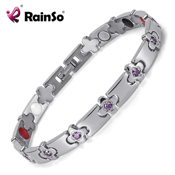 Hot Sale Women's Health Bracelets & Bangles Jewelry Therapy Energy Bracelet with Crystal Hand Chain OTB-1291 1