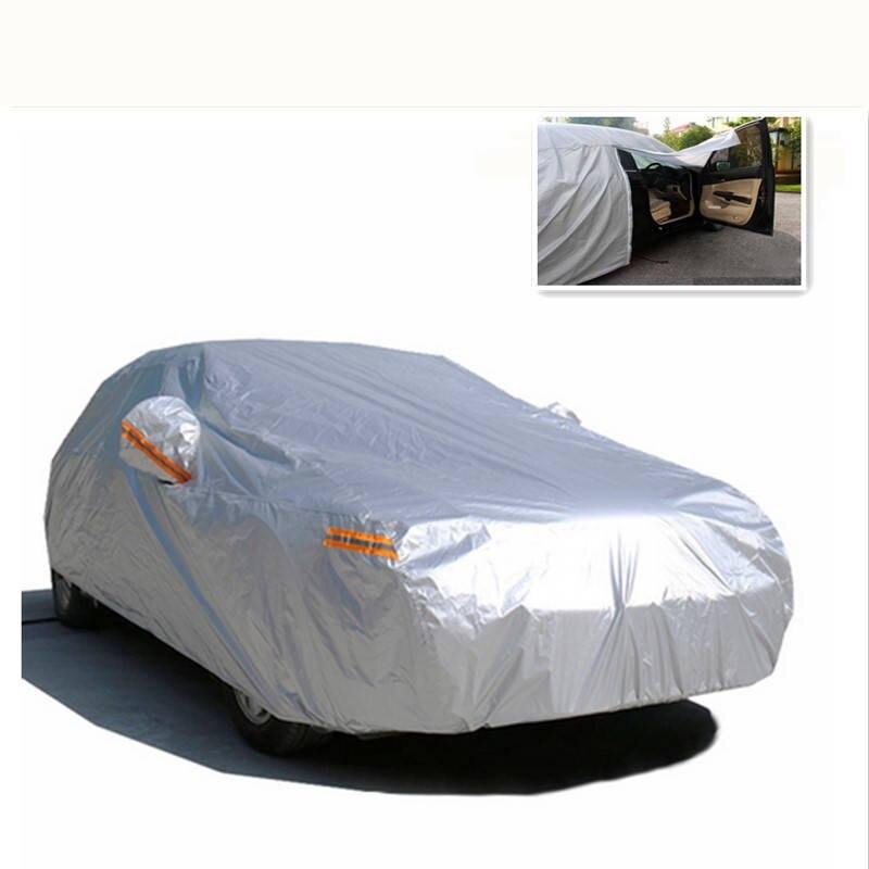 Universal Auto Abdeckung Schnee Beständig Fließheck Limousine SUV Zelt Wasserdicht UV Staub Scratch Protector Outdoor Auto Tuch PEVA Vollgrößer