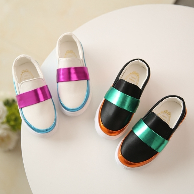 2016 Spring New Female Girls Children Princess Shoes Colorful Fashion Sneakers Bingbing Baby's Toddler's Parent-Child Flat Shoe