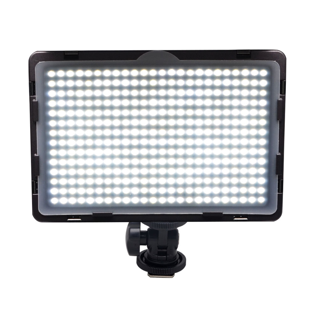 Mcoplus LED-340A CRI95 Ultra-thin On-camera Video LED Light for DSLR Camcorder Video Camera Video Shooting with Hot Shoe Mount hot sale dof hvr d160 5600k 160 leds bandoor filters ball mount led on camera video light for dv camcorder and dslr camera