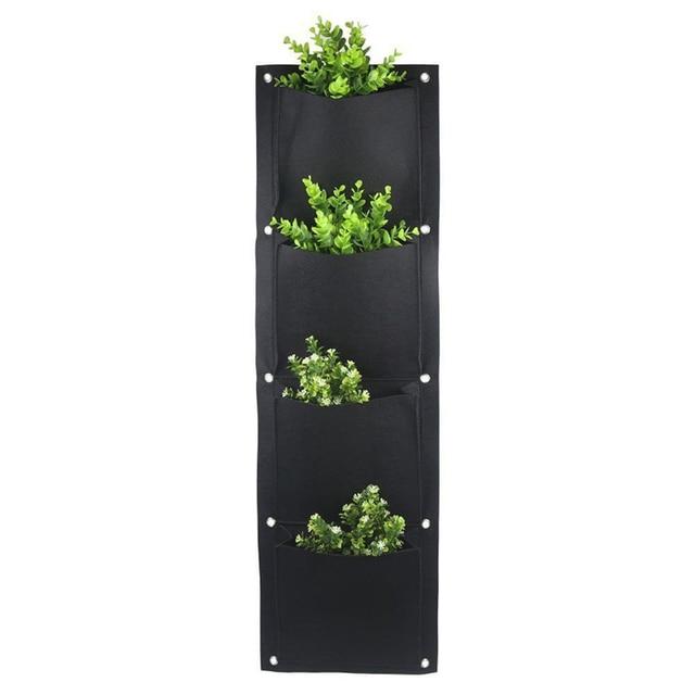 4 et 7 poches feutre Vertical jardinage Pots de fleurs planteur suspendus Pots planteur sur mur jardin vert champ jardin Decora