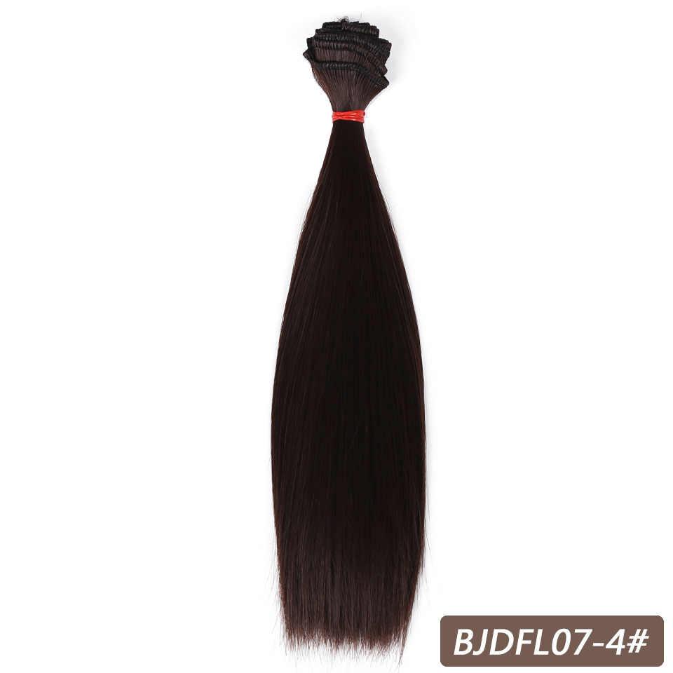 Allaosify refires bjd волосы 15 см * 100 см 25 см * 100 см Черный Розовый Белый Серый цвет длинный прямой парик для кукол для 1/3 1/4 BJD DIY
