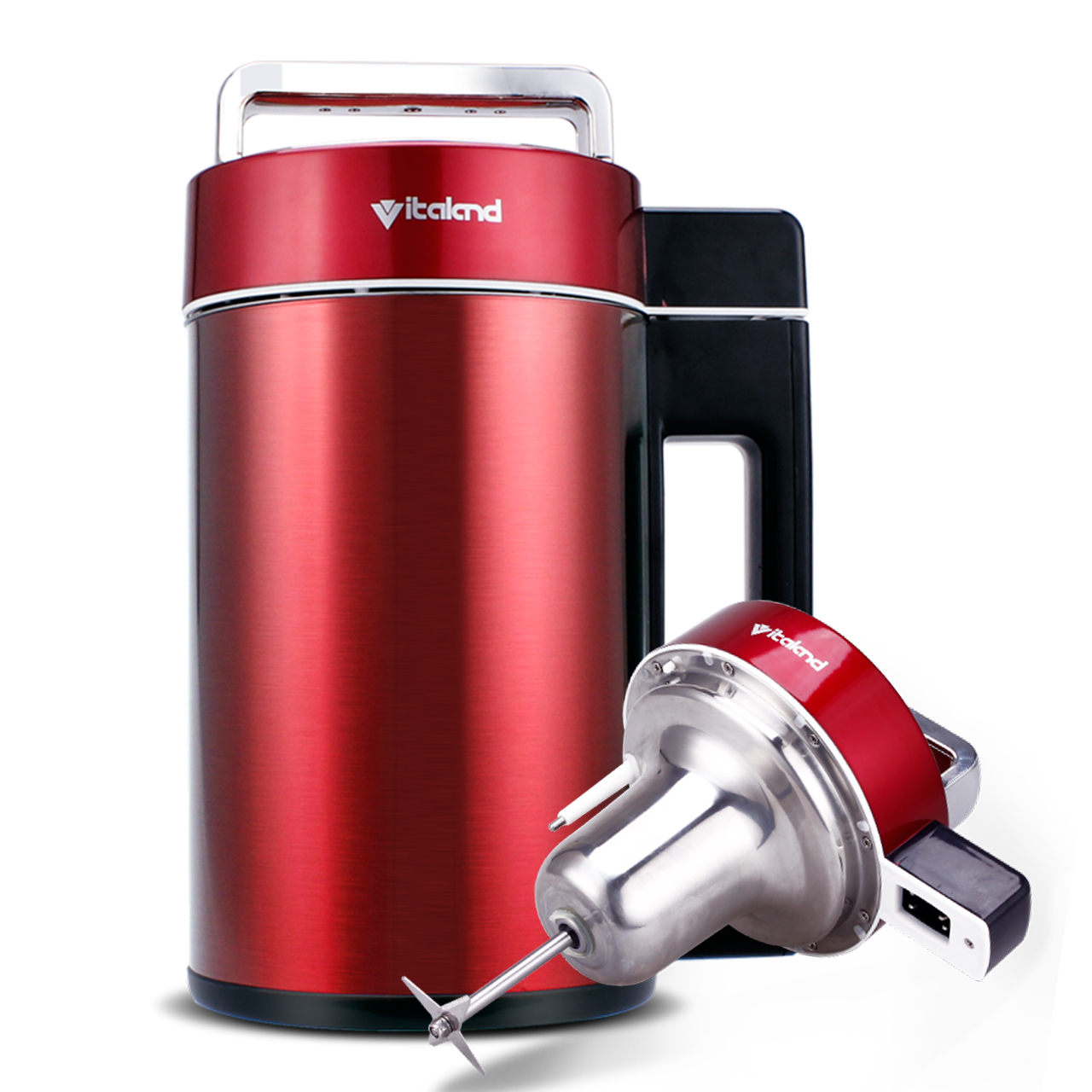 Soymilk Stainless Steel Household Automatic Multi - Function Intelligent Mini Soybean Maker Machine Chinese Red