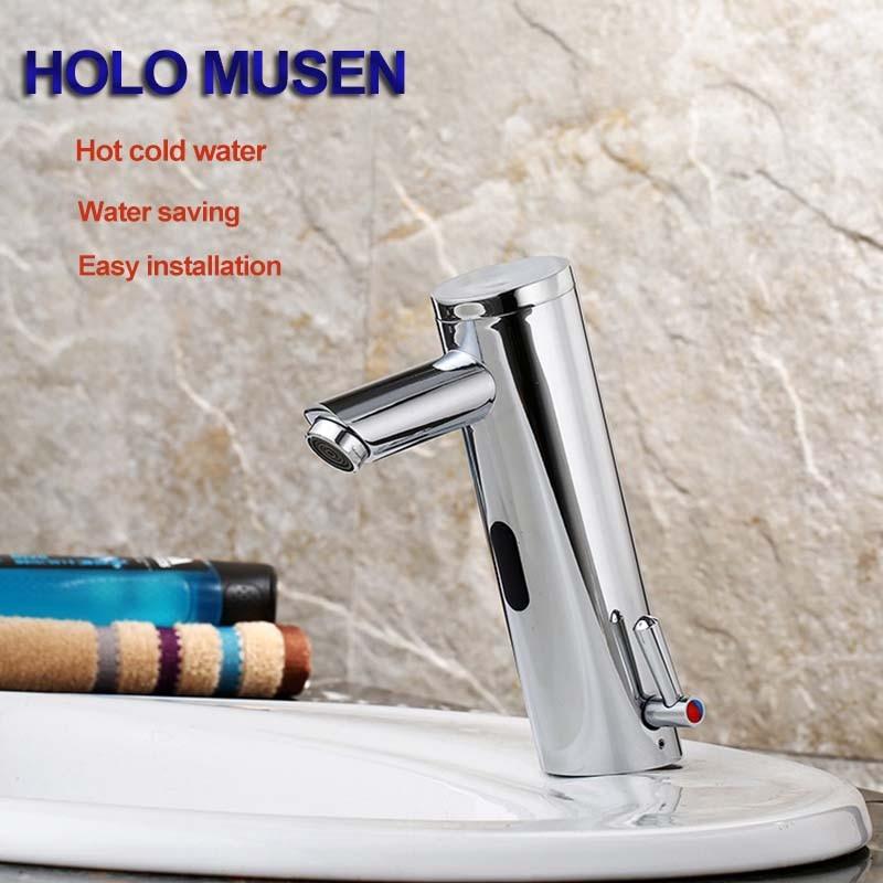 Chrome Touch Free Hygeian Water Saving Faucet Mixer DC6V
