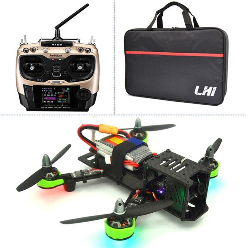 цена на quadrocopter drone with camera QAV ZMR 220mm+ AT9S radiolink 2.4G Remote Control 1000TVL TS5828 FPV 5.8G 32CH 600mW quadcopter