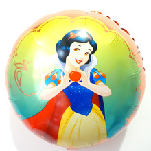 princess Snow white foil balloons 18inch round new style snow helium children toys for birthday party