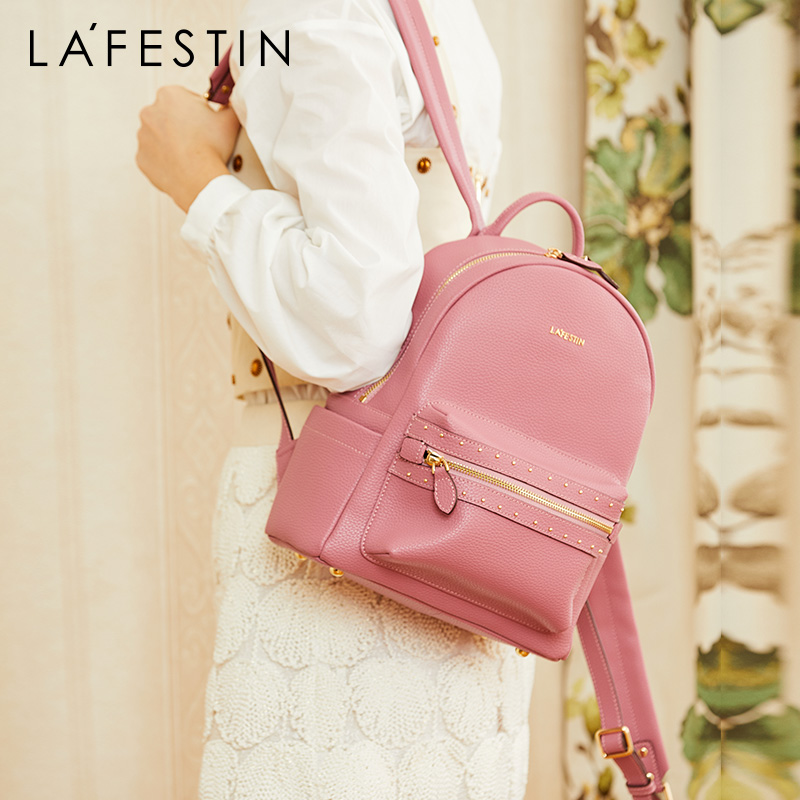 La festin female backpack 2019 new leather women s bag wild fashion simple backpack large capacity