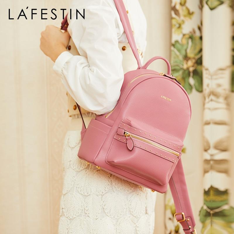 Bagaj ve Çantalar'ten Sırt Çantaları'de La festin kadın sırt çantası 2019 yeni deri kadın çanta vahşi moda basit sırt çantası büyük kapasiteli seyahat çantası mochila mujer'da  Grup 1