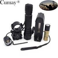 1 Mode Lampe de poche tactique lanterne 3800 lumens XM-L T6 LED 501B chasse linterna LED Lampe Torche 18650 chargeur de batterie zaklamp
