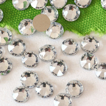 New Facted (8big+8small) ss16 ss20 ss30 Excellent Top Quality Clear Nail Art Gems Flatback Non Hotfix Rhinestones Cut Facets