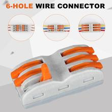 10Pcs/Lot Wire Connector WAGO Type 222-412 413 415 Wiring Cable Connector Conductor Terminal Block Threader Splitter 0.08-2.5mm