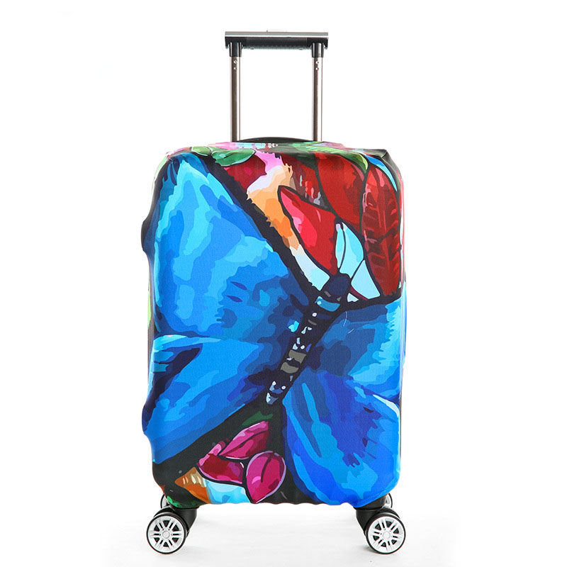 TRIPNUO Thickest Elastic Suitcase Cover Cartoon Butterfly Luggage Protective Cover For 18