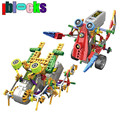 IBLOCKS Children Learning and Education Electric Motor 2in1 Robot Model Building Blocks DIY Robocar Assemblage Toys For Boys