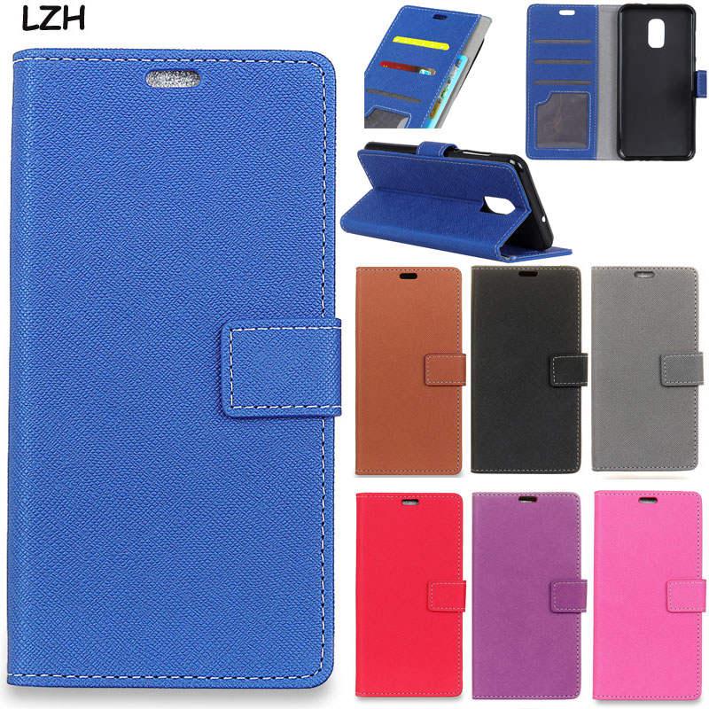 Cross Pattern Business PU Leather Flip wallet Magnetic snap stand card Money slots Case for ASUS Zenfone V Live V500KL