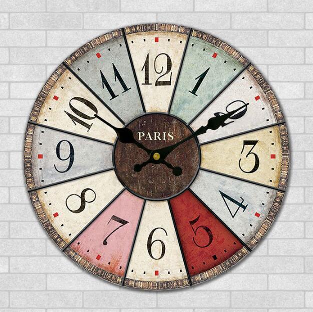 Moda reloj de la sala del colgante de pared arte personalidad artesanías de  madera Mediterráneo reloj creativo 7c70815a744a0