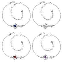 Alta calidad al por menor de moda plateó Silve joyas tobilleras elegante A002