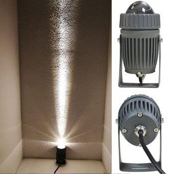 Design Óptico profissional 10 W Conduziu a Luz do Ponto Levou Ao Ar Livre Holofote Ao Ar Livre Iluminação Estreito Ângulo de Luz de Inundação com AC100 240 V