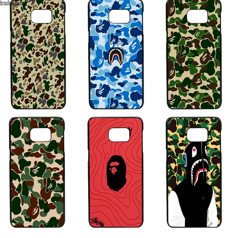 size 40 717a0 c56c0 Fashion Bape Sharks Mouth Theme Phone Cases Hard Cover for Samsung ...