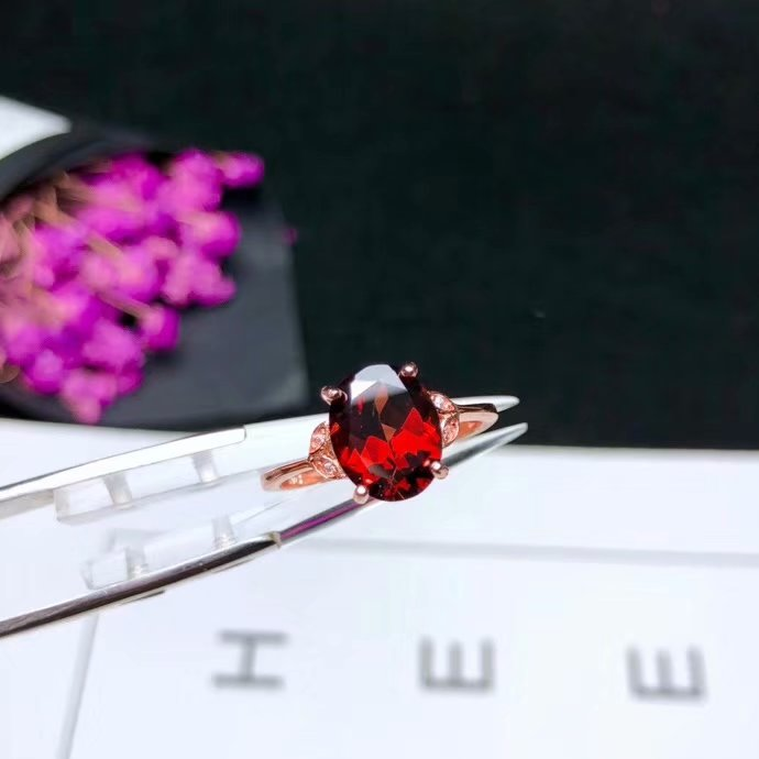 SHILOVEM 925 silver natural red garnet rings open  trendy party  wholesale Fine women Birthday  gift yhtz030501agshSHILOVEM 925 silver natural red garnet rings open  trendy party  wholesale Fine women Birthday  gift yhtz030501agsh