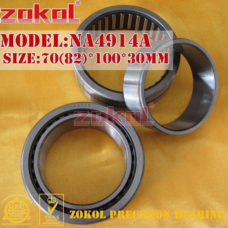ZOKOL bearing NA4914 A NA4914A Entity ferrule needle roller bearing 70(82)*100*30mm rna4913 heavy duty needle roller bearing entity needle bearing without inner ring 4644913 size 72 90 25