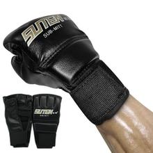 цена на Half Finger Boxing Gloves Brazilian Muay Thai PU Leather Boxing Gloves Twin Women Men MMA Gym Training Grant Boxing Gloves