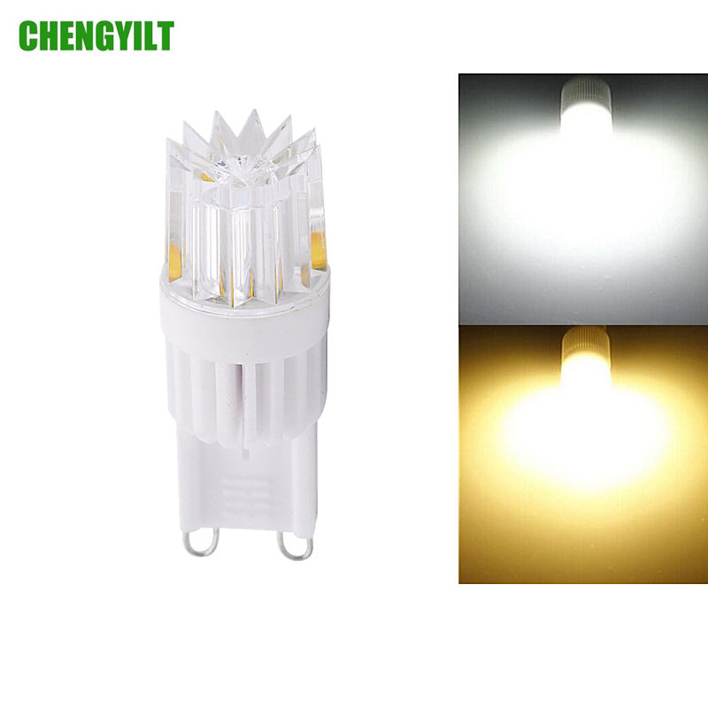 G9 Base Ceramic COB LED Lighting Bulb AC110V 220V Mini LED Lamp Crystal Chandelier Spotlight 360 Degree SMD2835 Dimmable Light