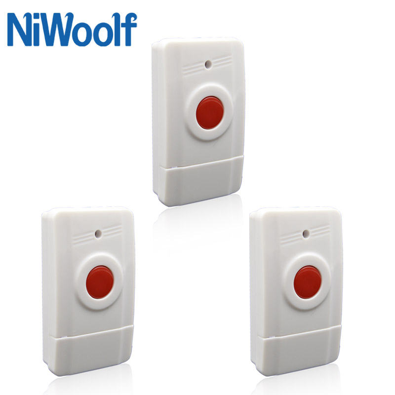3 Pieces Of 433MHz Wireless Emergency Alarm Button. Panic Button, One Key Alarm, Can Install On The Wall,