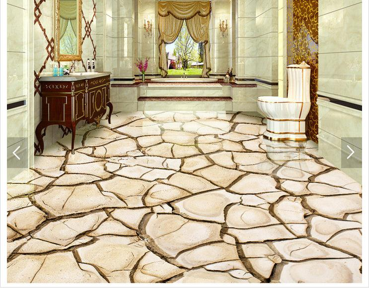 Custom 3d photo wallpaper 3d flooring painting wallpaper for Living room 3d tiles