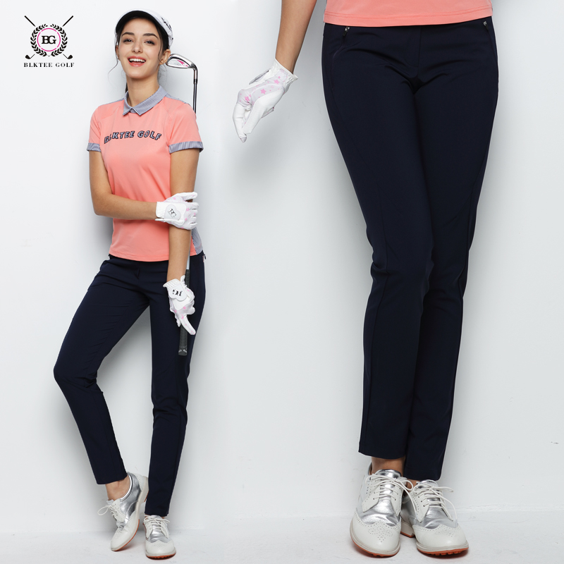 2018 BG New Women's Summer Breathable Golf Pants Quick Dry Long Trousers Pants Slim Sports Thin Pants With Botton Fly цена