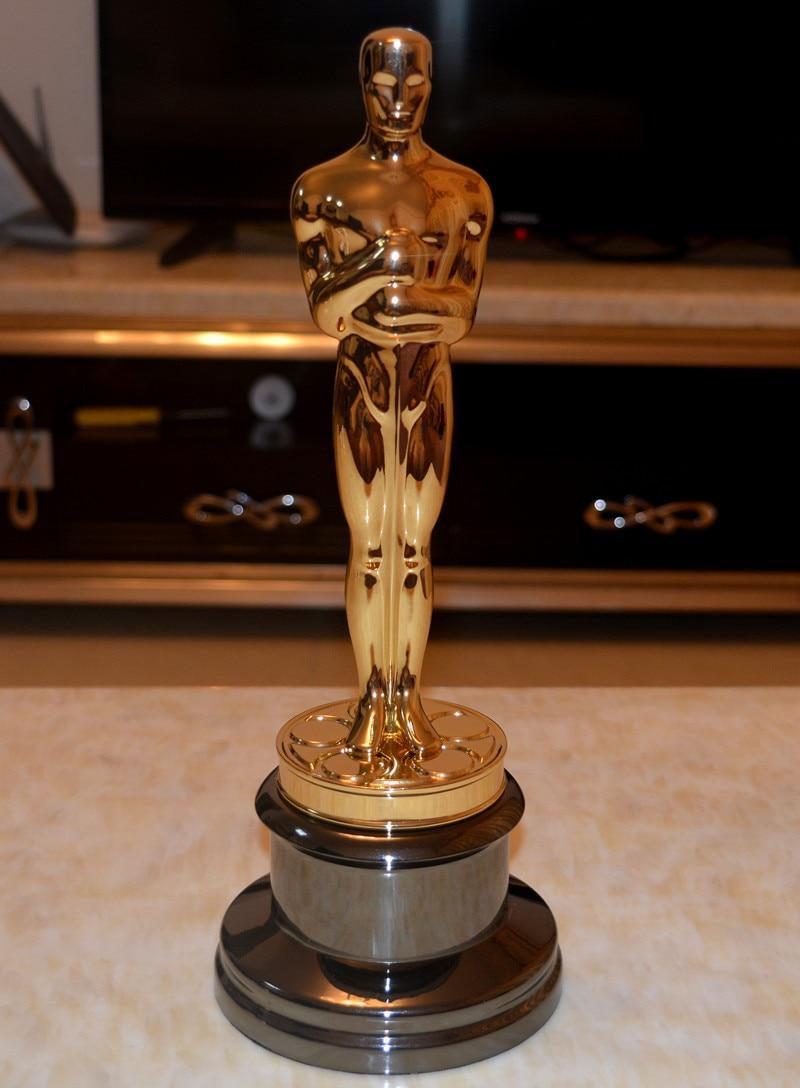 New Arrival High Quality 1:1 Sclae Academy Award Oscar Statue,Oscar Trophy, Zinc Alloy Replica Oscar Trophy,