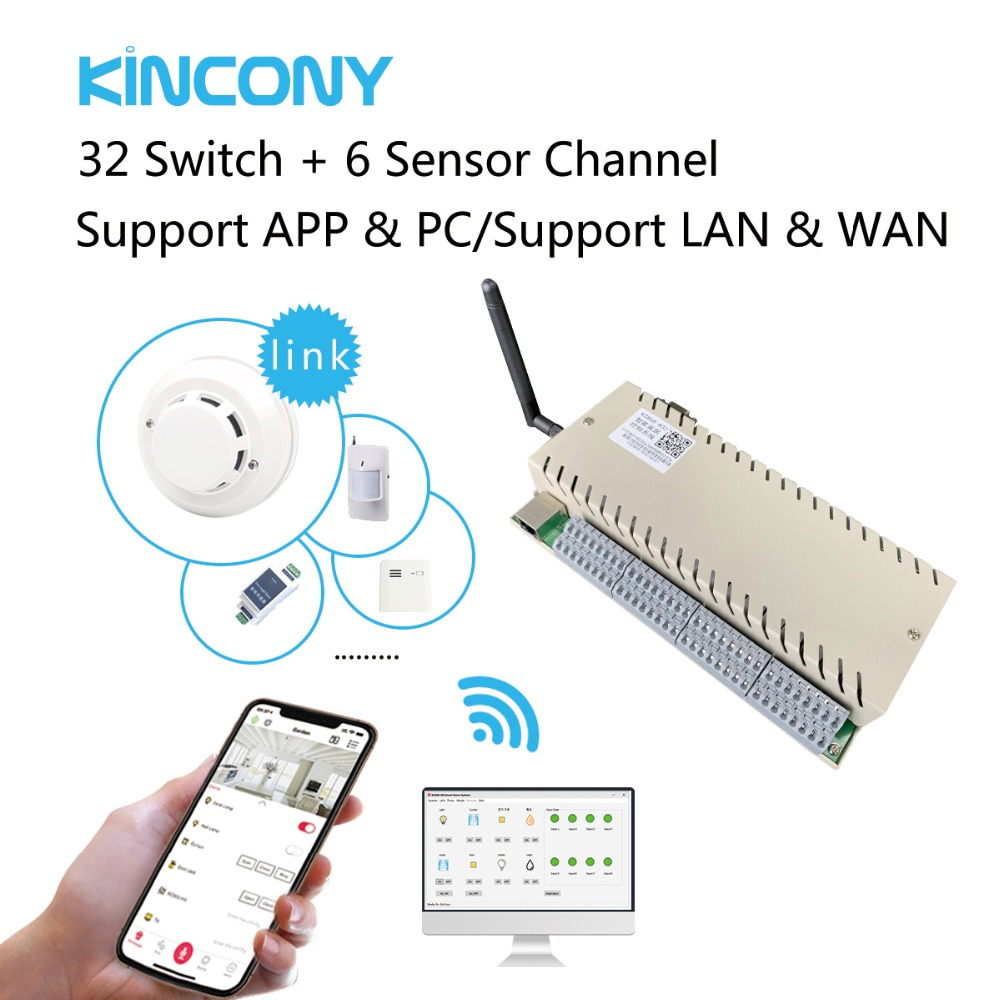 Image 3 - 32 Gang Network WiFi TCP IP Relay Control Diy Switch Module Smart Home Automation Remote Controller Security Alarm  Domotica-in Home Automation Modules from Consumer Electronics