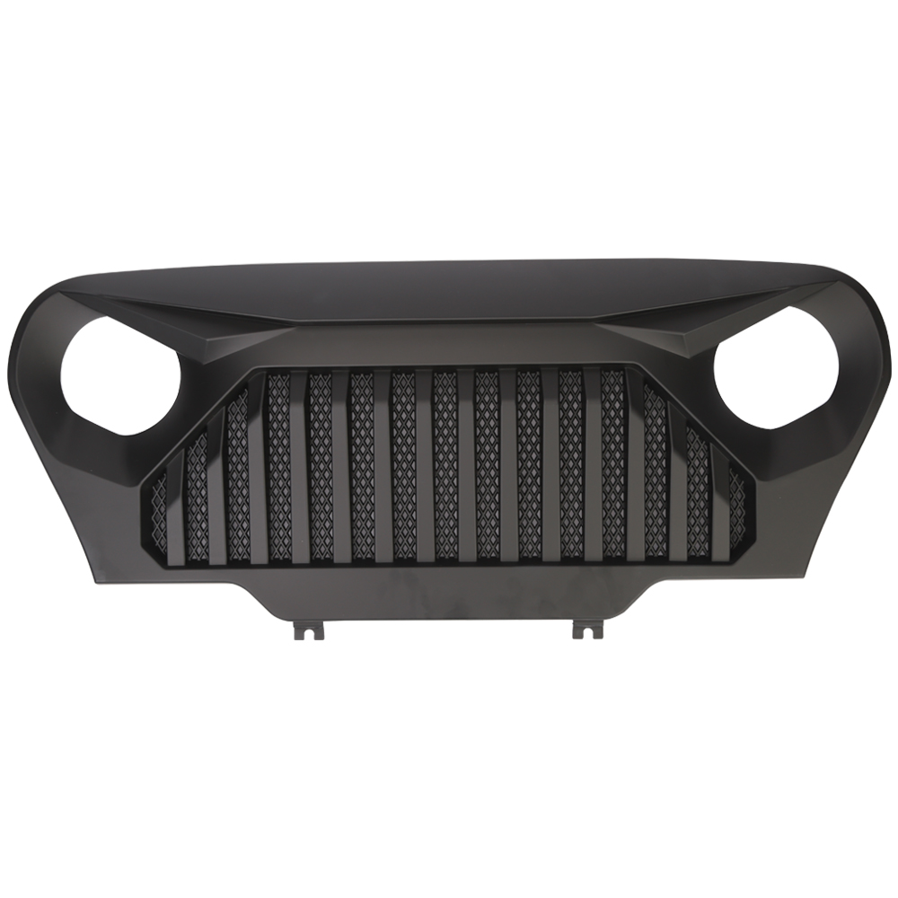 1pc J282 Lantsun Front Gladiator Grille Vader Grill w/ Mesh Inserts in Matte Black for 1997-2006 Jeep Wrangler TJ household