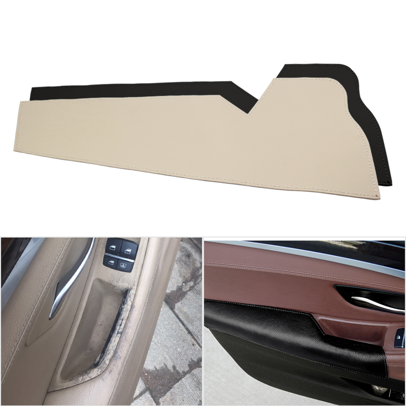 Image 1 - Car Cow Leather Interior Driver Side Door Handle Armrest Panel Protection Cover for BMW 5 Series F10 F18 2011 2012 2013   2017-in Interior Mouldings from Automobiles & Motorcycles