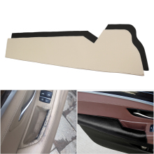 Car Cow Leather Interior Driver Side Door Handle Armrest Panel Protection Cover for BMW 5 Series F10 F18 2011 2012 2013   2017