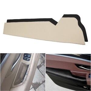 Image 1 - Couro de vaca do carro interior motorista lado maçaneta da porta braço painel proteção capa para bmw série 5 f10 f18 2011 2012 2013   2017