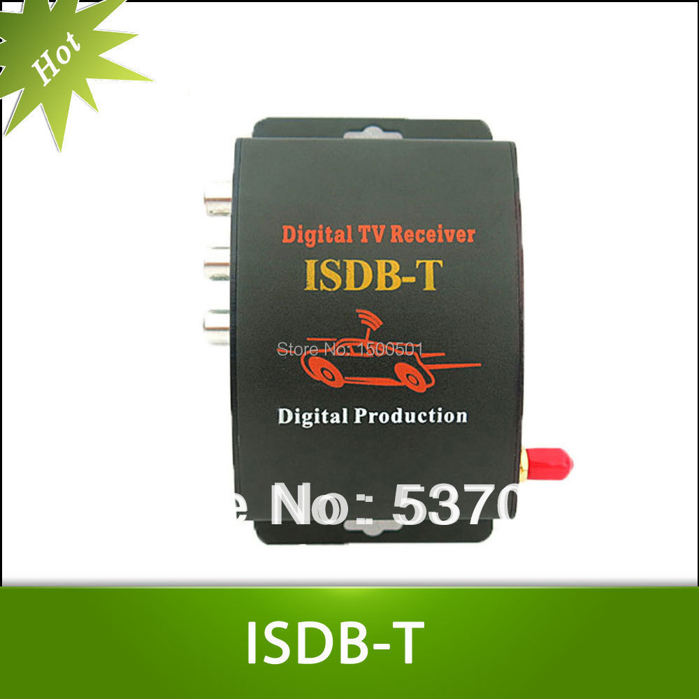 ФОТО Car ISDB-T mobile digital tv box tuner Receiver for Brazil support 250km/h and with 2 video output