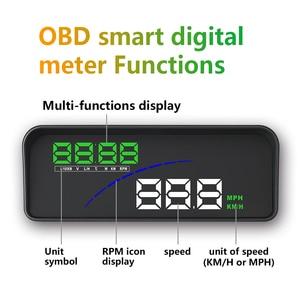 Image 3 - GEYIREN P9 Car HUD Head Up Display OBD Smart Digital Meter For Most OBD2 EUOBD Cars P9 HD Projector Display The Car Dashboard