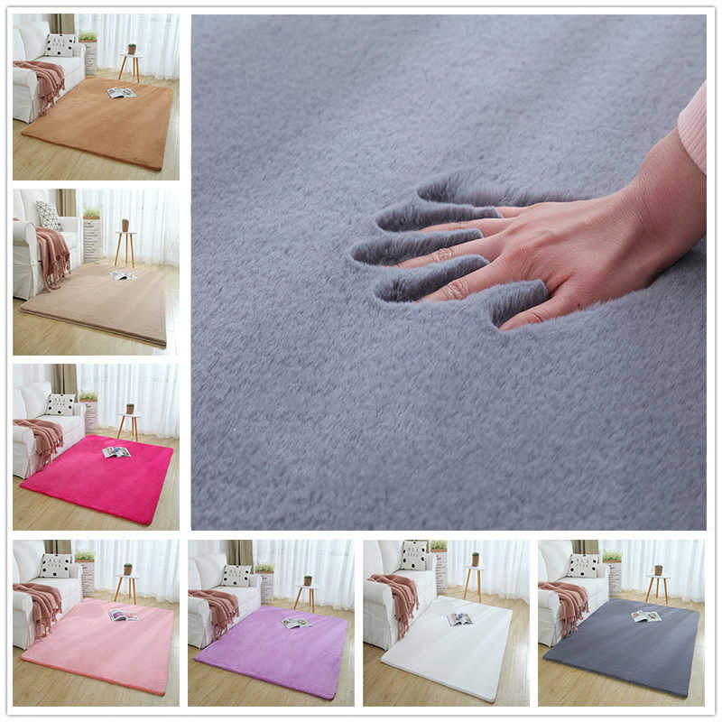 Plush Shaggy Carpet Rug for Living Room Large Super Soft Faux Fur Bedroom Carpets Kids Room Home Floor Mats tapete para sala
