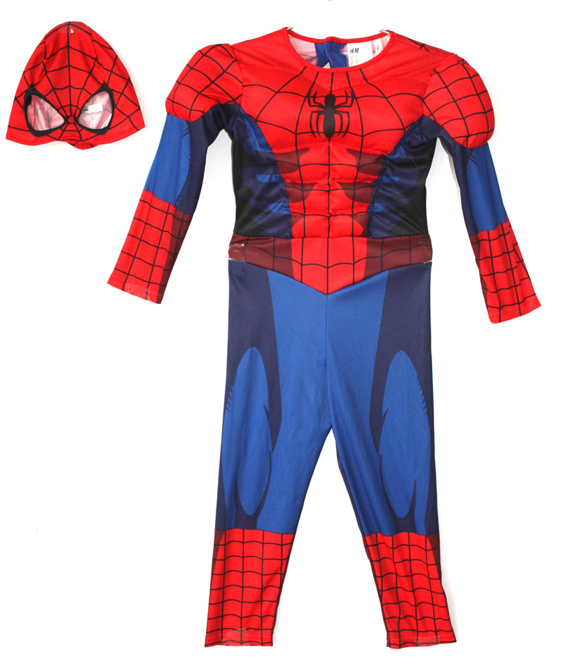 Free shipping ,new style children muscle spiderman costume superhero Jumpsuit for kid