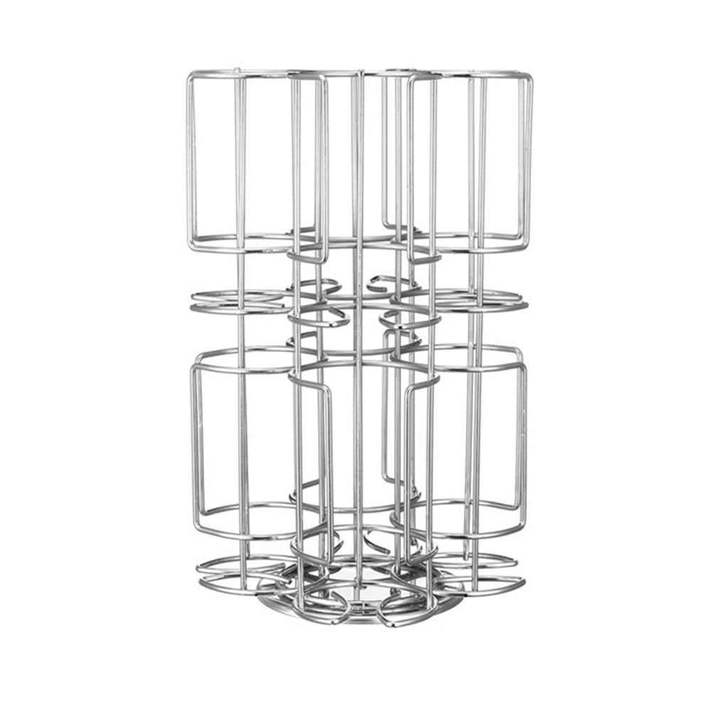 1PC Coffee Pod Holder 360 Degree Rotating Rack Capsule Storage Stand Tower For Tassimo 48 Capsule