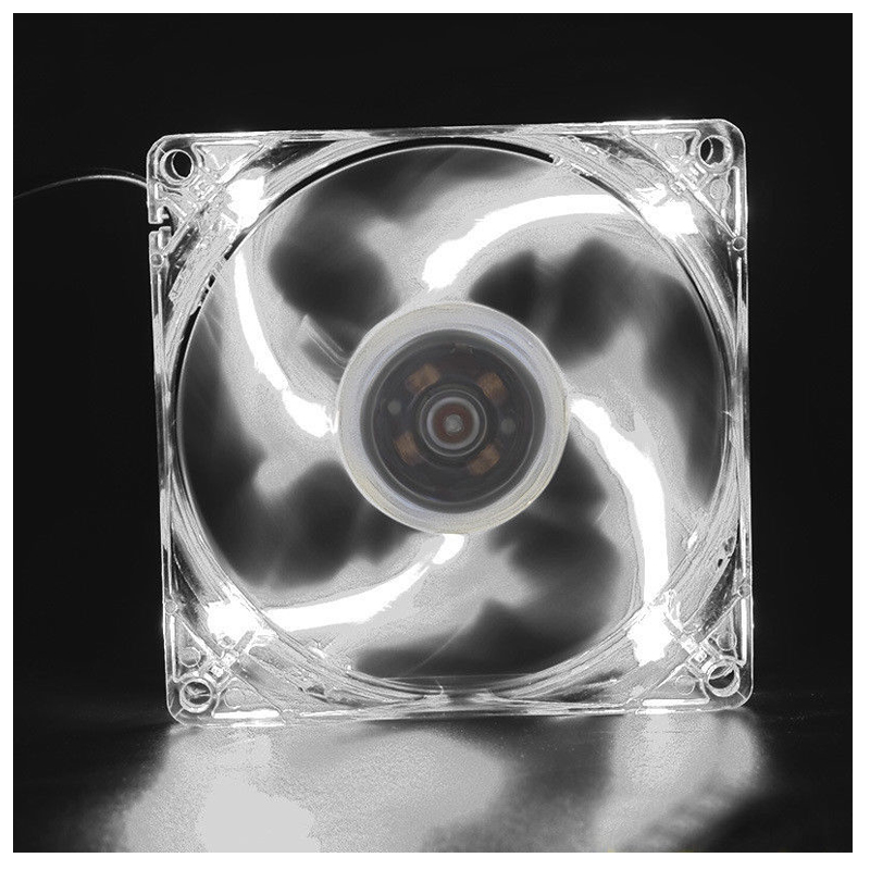NEW 120mm LED DC 12V 3Pin Noiseless PC Computer Case Cooling Cooler Fan 1300RPM