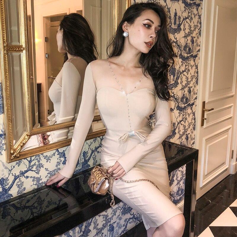 LE PALAIS VINTAGE 2018 Autumn Dazzle Rhinestones Dress