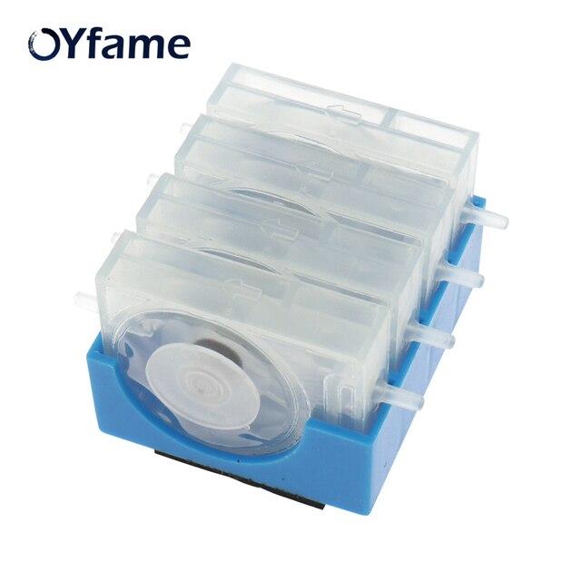 OYfame 4 צבע CISS אחת דרך שסתום מנחת CISS דיו זרימת בקרת שסתום דרך אחת דיו שסתום חזרה הלא מנחת למדפסת הזרקת דיו