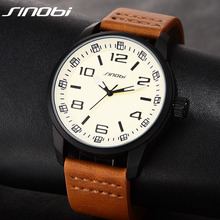 SINOBI 2017 Sports Casual Watch Men Classic Military Quartz-Watches Waterproof Male Quartz Leather Clock Relogios Masculino G30